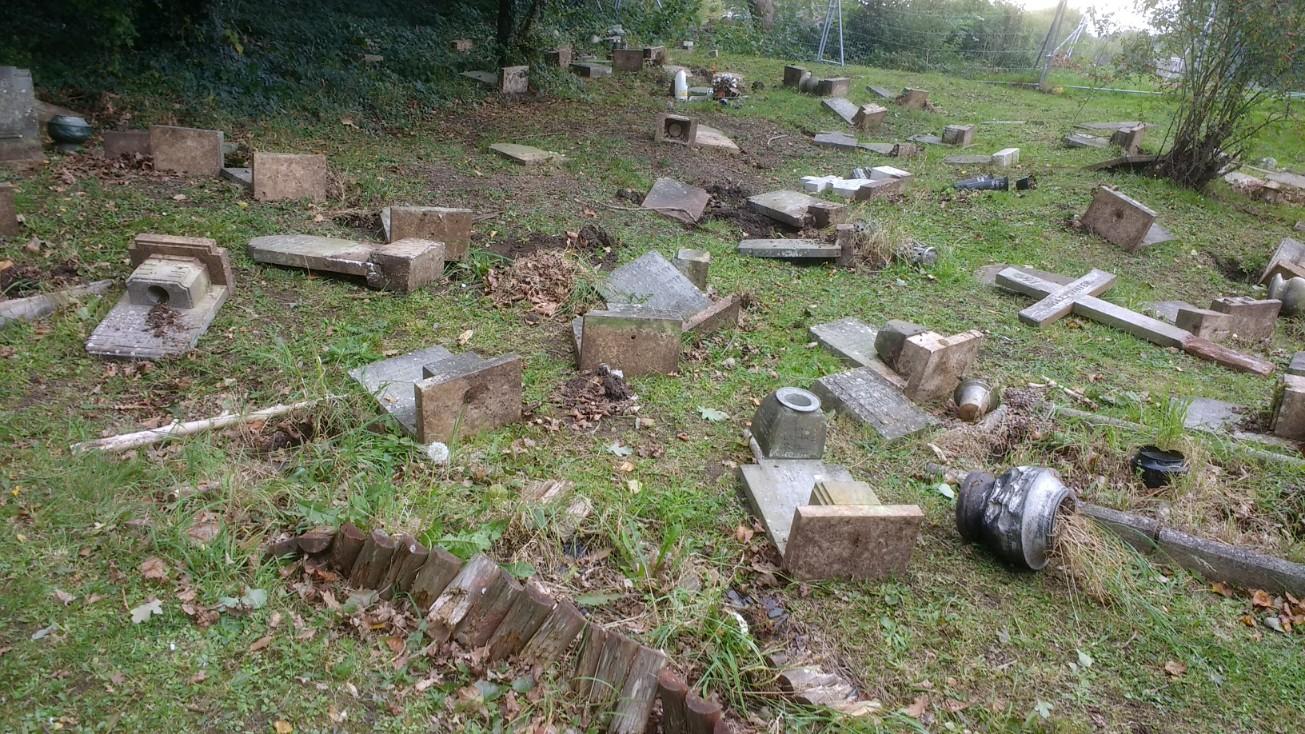 CNC Poor Peoples Graves Vandalised