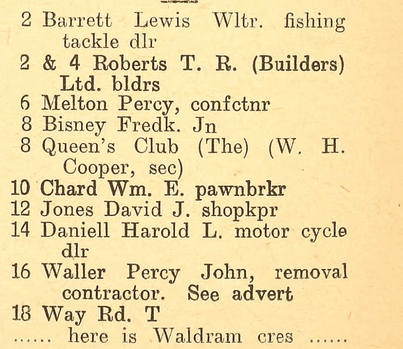 1939 directory