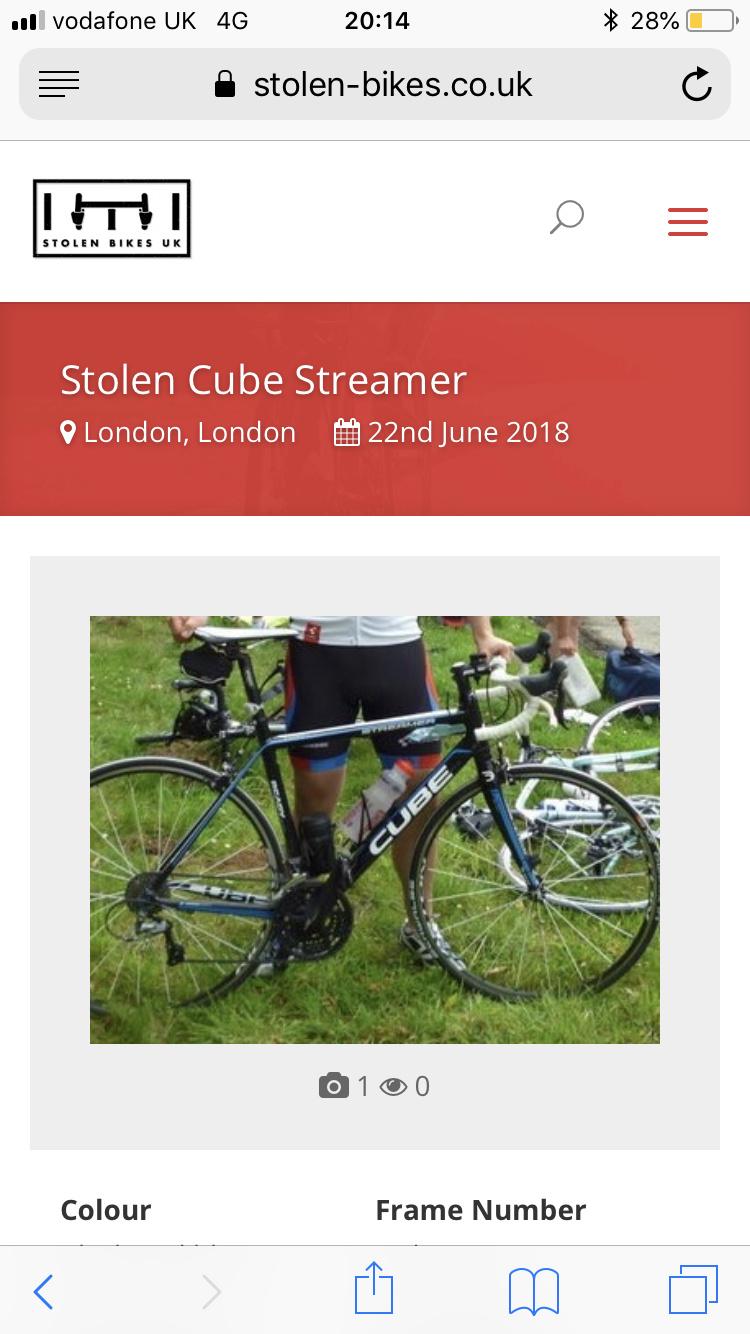 b39837b6bdc Stolen Bike - Crime - SE23.life