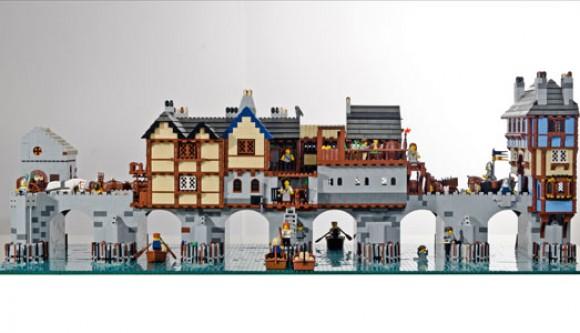 Old London Brigde, Brick Wonders - a model of Old London Bridge made from LEGO bricks, Warren Elsmore
