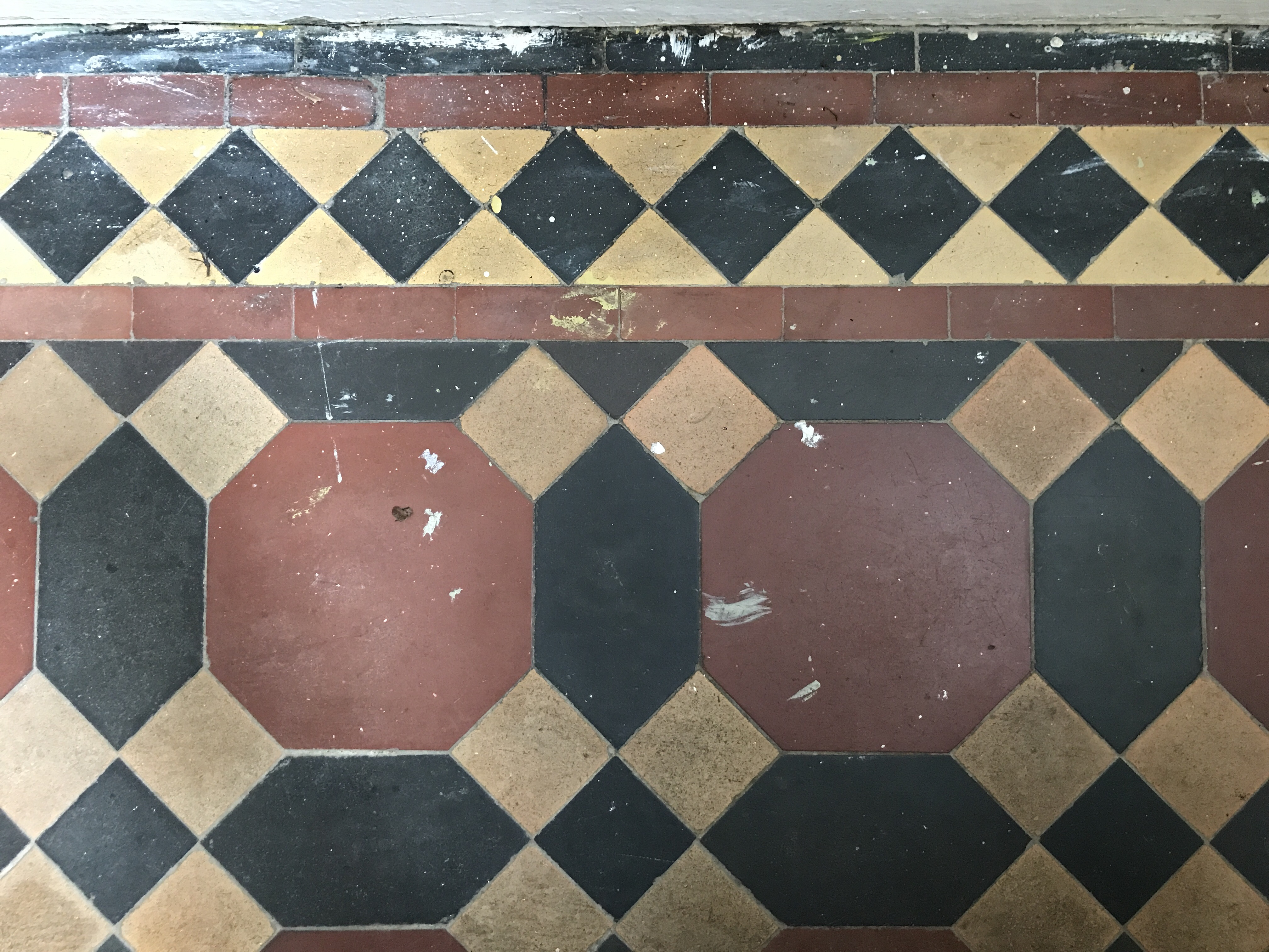 Cleaning Edwardian Tiles In Entrance Hall To Half House