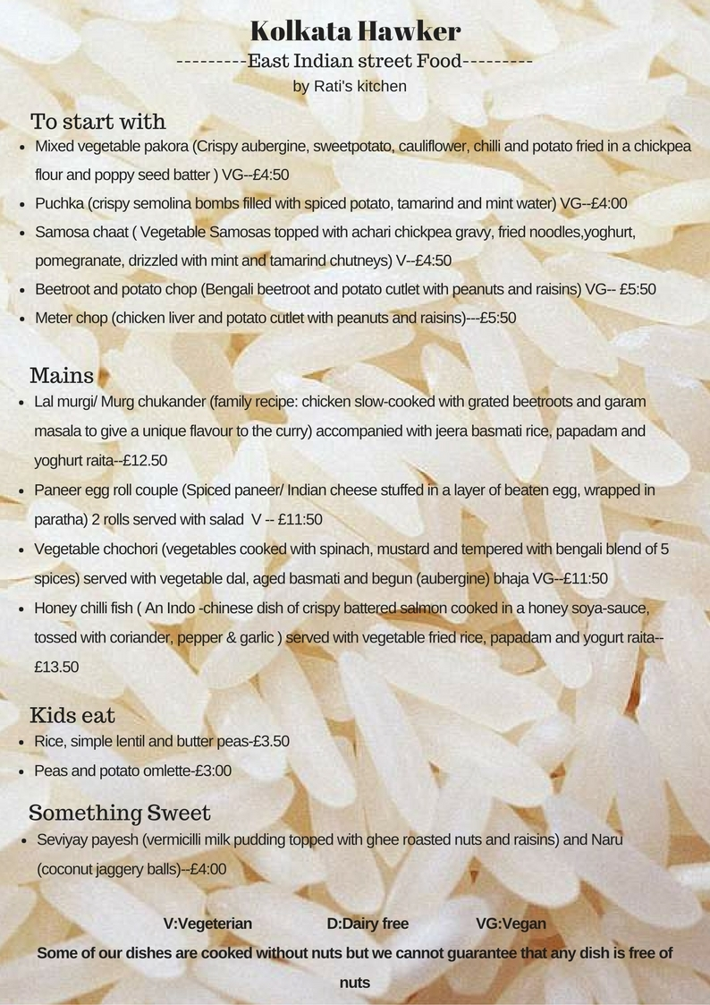 East Indian Street food pop up at All Inn One pub - Dining/Drinking ...