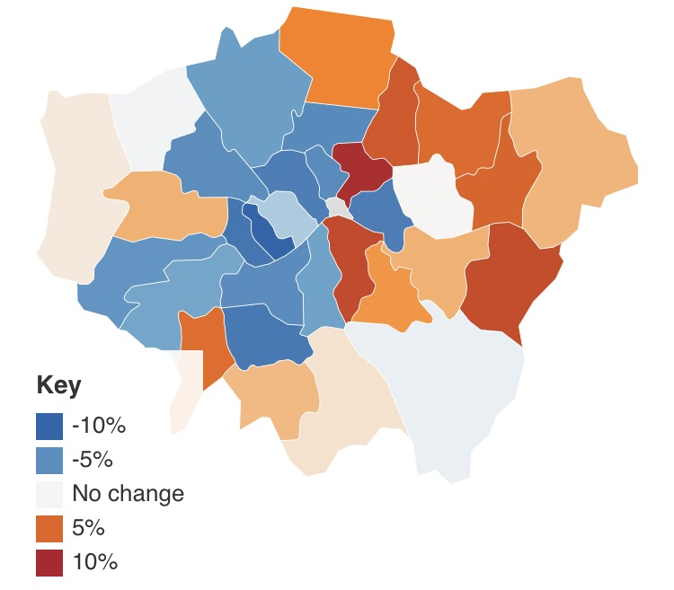 London House Price Drop Drives Down Uk Average Streetscape