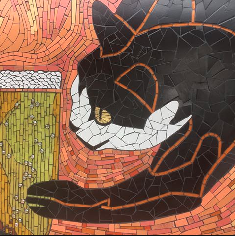 cat mosaic craft fair